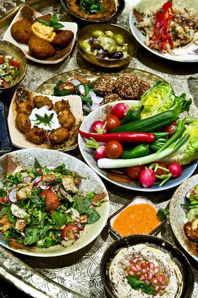 moroccan salads cooking class activity riad saba .marrakech
